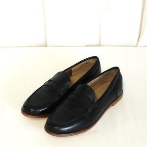 J Crew Ryan penny loafers in leather Black H8200